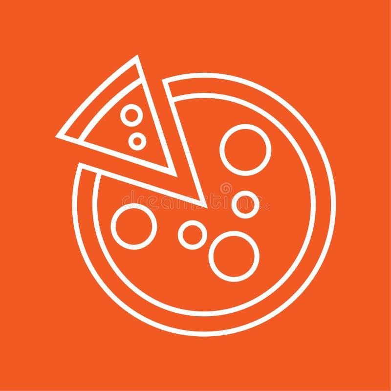 Illustration för vektor för pizzasymbol enkel royaltyfri illustrationer