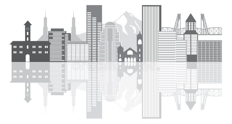 Illustration för vektor för Portland Oregon horisontgråton