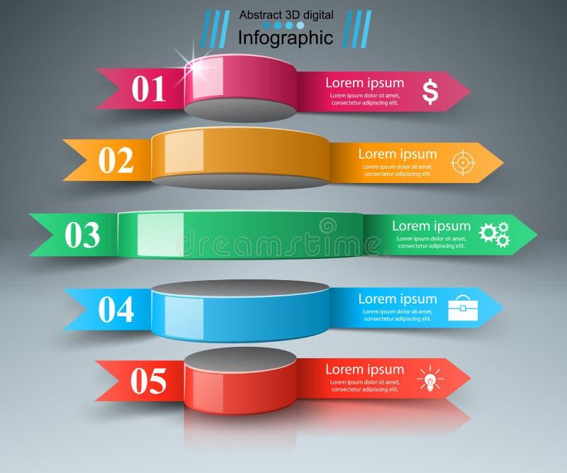 Illustration för vektor för stil för affärsInfographics origami royaltyfri illustrationer
