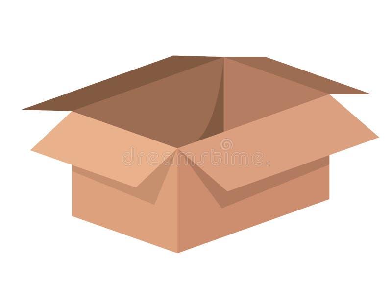 Illustration för vektor för symbol för asklåda emballage isolerad royaltyfri illustrationer