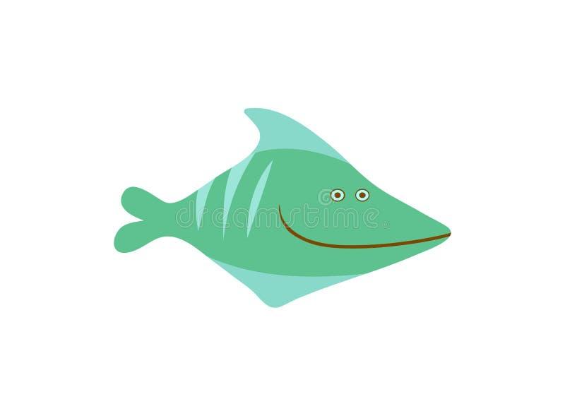 Illustration för vektor för tecknad film för komikergräsplanfisk royaltyfri illustrationer