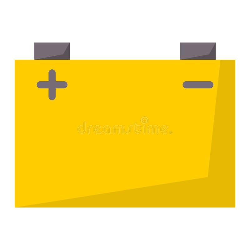 Illustration för vektor för teknologi för positiv tillförsel för bränsle för laddning för elektricitet för batterienergihjälpmede royaltyfri illustrationer