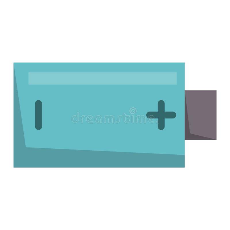 Illustration för vektor för teknologi för positiv tillförsel för bränsle för laddning för elektricitet för batterienergihjälpmede stock illustrationer
