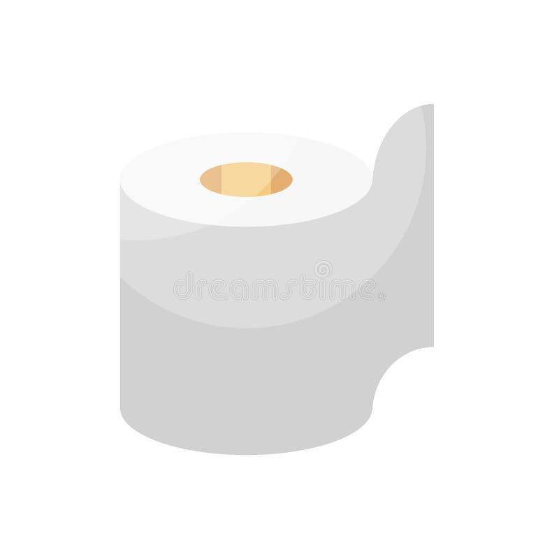 Illustration för vektor för toalettpapper royaltyfri illustrationer
