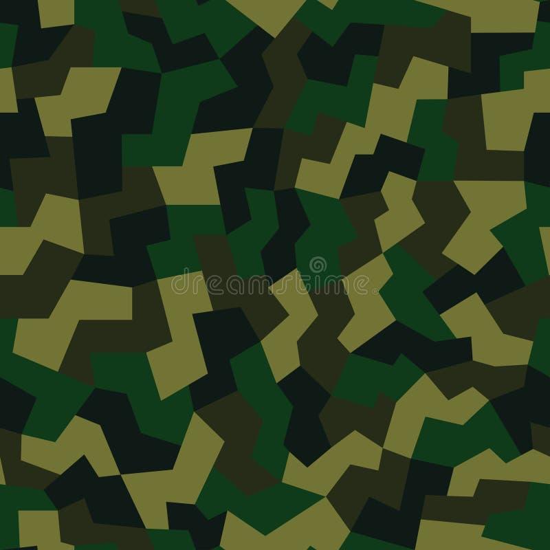 Illustration för vektor för geometrisk kamouflagemodellbakgrund sömlös Stads- bekläda stil som maskerar camorepetitiontrycket vektor illustrationer