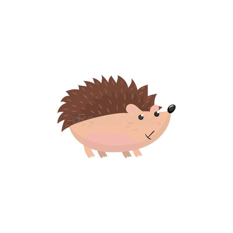 Illustration för vektor för gullig igelkottskogsmarktecknad film djur vektor illustrationer