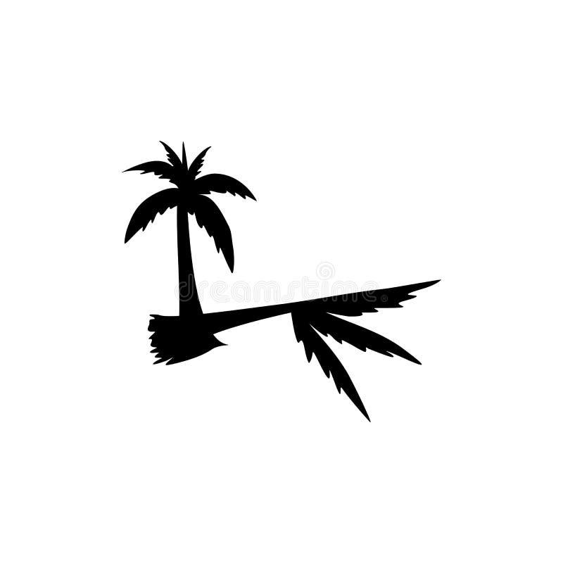 Illustration för vektor för kokospalmlogomall royaltyfri illustrationer