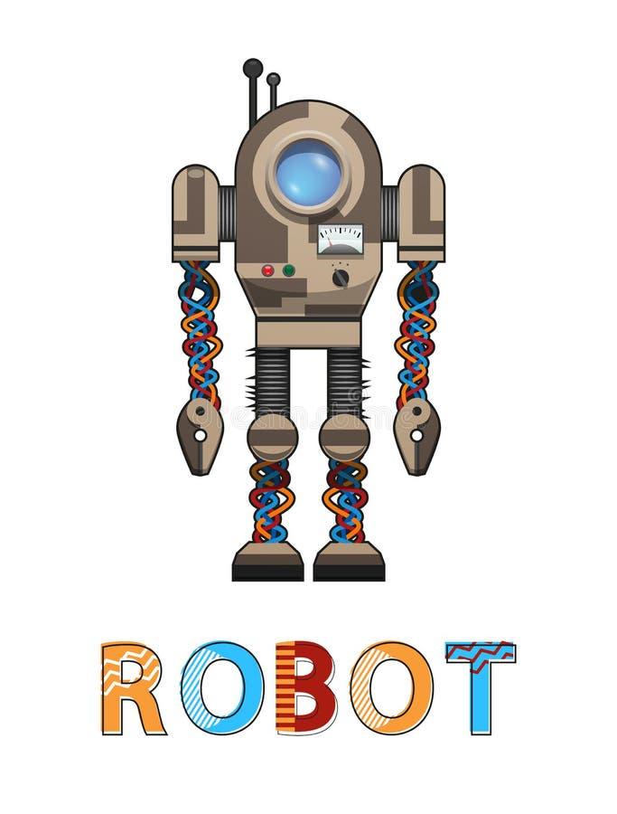 Illustration för vektor för konstgjord organism för robot vektor illustrationer