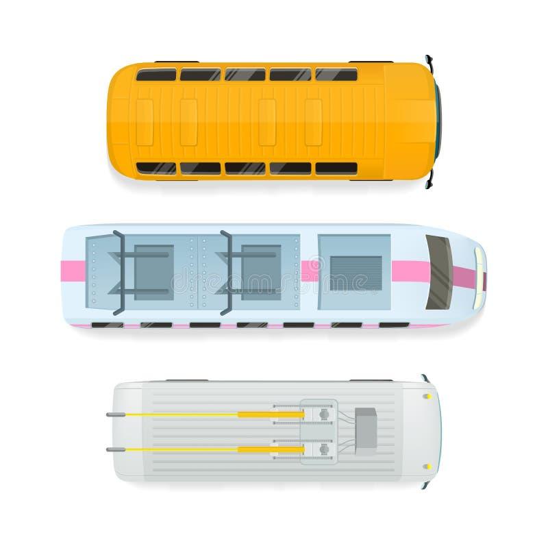 Illustration för vektor för lägenhet för bästa sikt för stadstransport vektor illustrationer