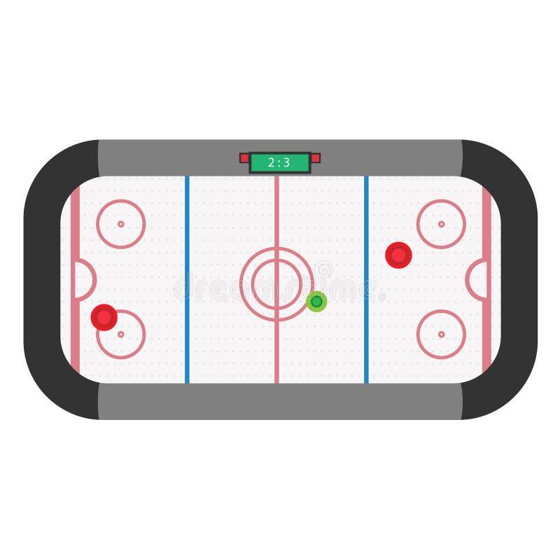 Illustration för vektor för lek för hockeylufttabell Isolerad matchsport stock illustrationer