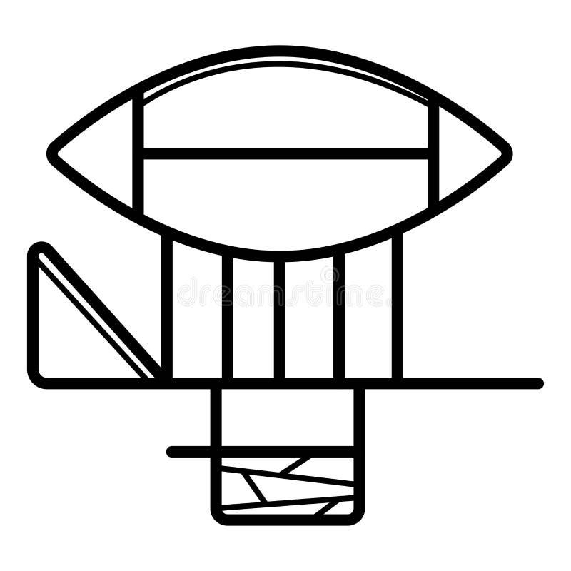 Illustration för vektor för luftskeppzeppelinaresymbol royaltyfri illustrationer