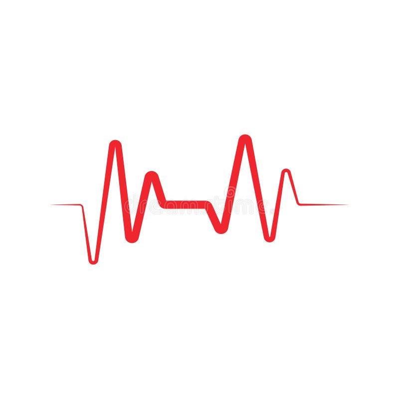 Illustration för vektor för mall för grafisk design för ekg för hjärtatakt royaltyfri illustrationer