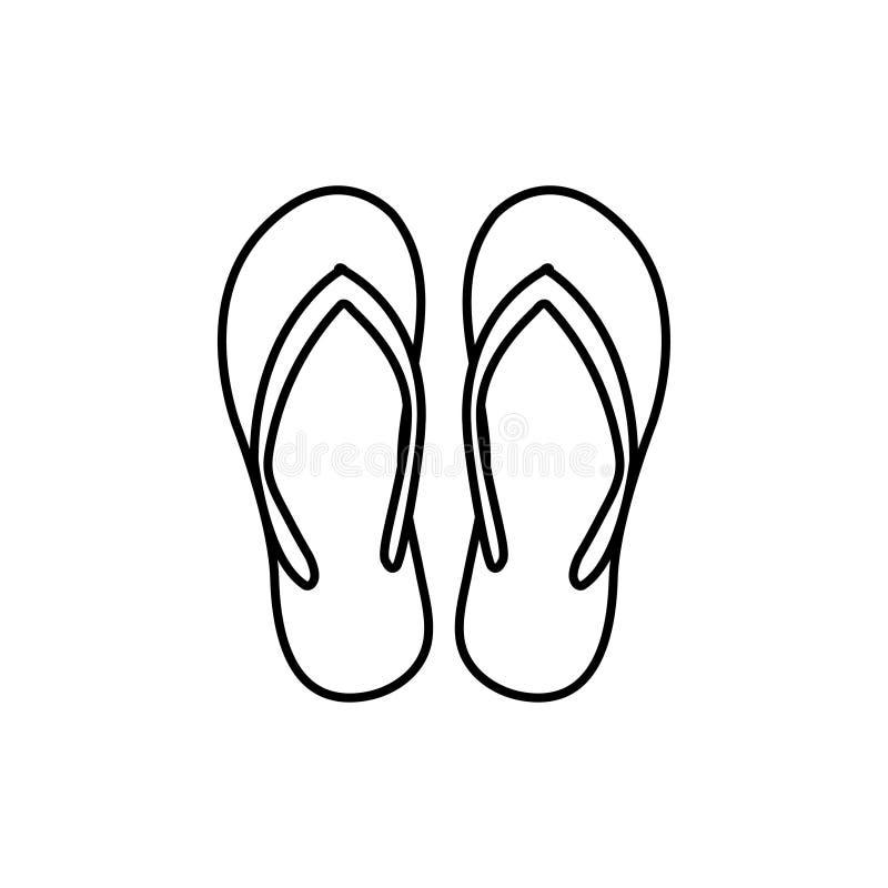Illustration för vektor för mall för grafisk design för sandal royaltyfri illustrationer