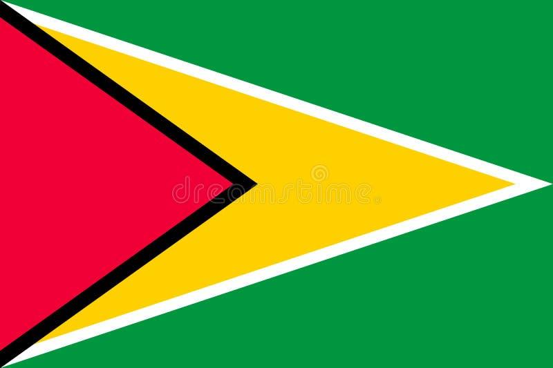 Illustration för vektor för medborgareGuyana flagga royaltyfri illustrationer