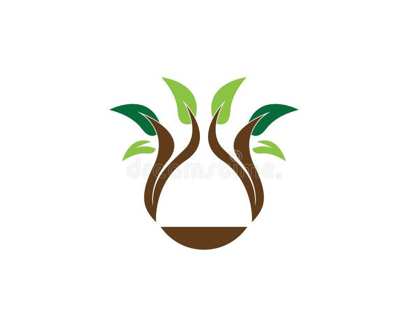 Illustration för vektor för naturväxtsymbol royaltyfri illustrationer