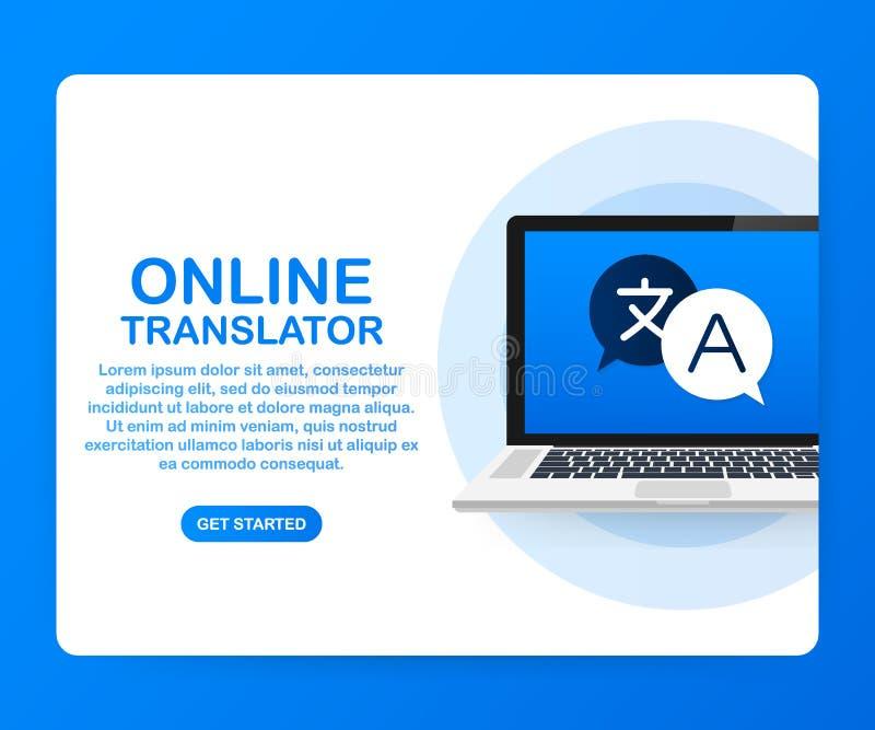 Illustration för vektor för online-översättarebegrepp isometrisk Smartphone med flaggor av den olika tillstånd och världskartan p royaltyfri illustrationer