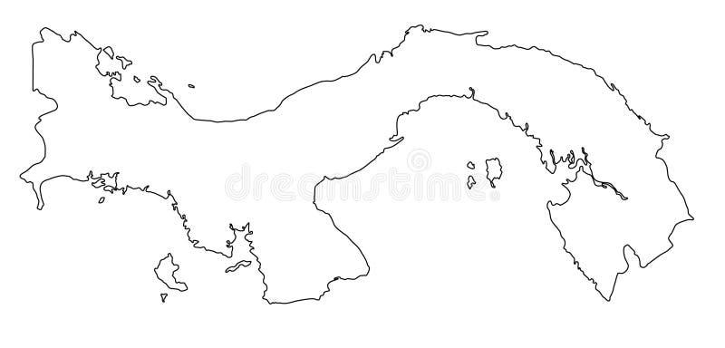 Illustration för vektor för Panama översiktsöversikt royaltyfri illustrationer