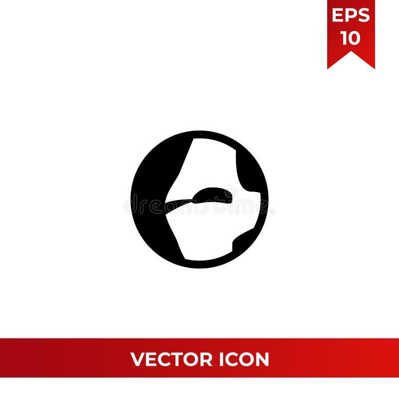 Illustration för vektor för planetjordsymbol vektor illustrationer