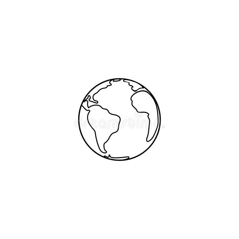 Illustration för vektor för planetjordsymbol royaltyfri illustrationer