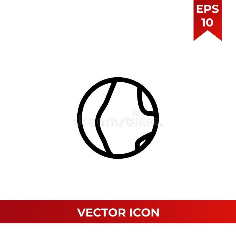 Illustration för vektor för planetjordsymbol stock illustrationer