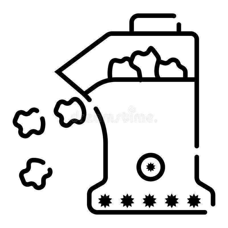 Illustration för vektor för popcornmaskinsymbol royaltyfri illustrationer