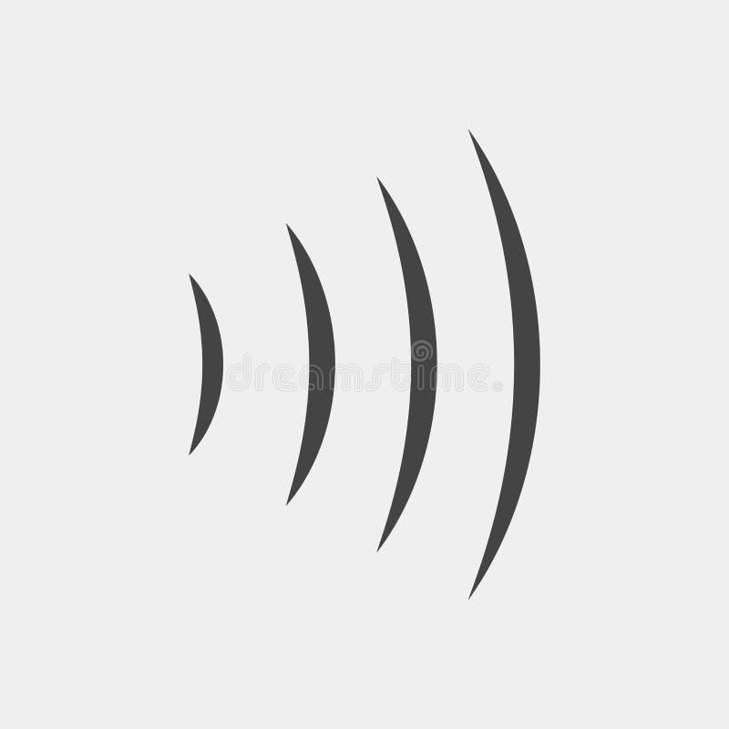Illustration för vektor för solid våg Utstrålning för radiovåg Wai Fi lurar royaltyfri illustrationer