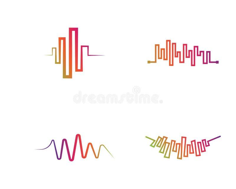 Illustration för vektor för solida vågor royaltyfri illustrationer