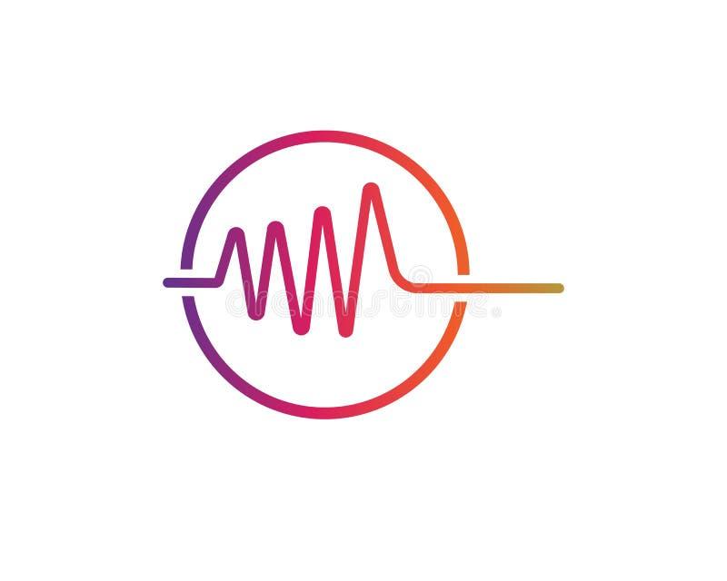 Illustration för vektor för solida vågor vektor illustrationer