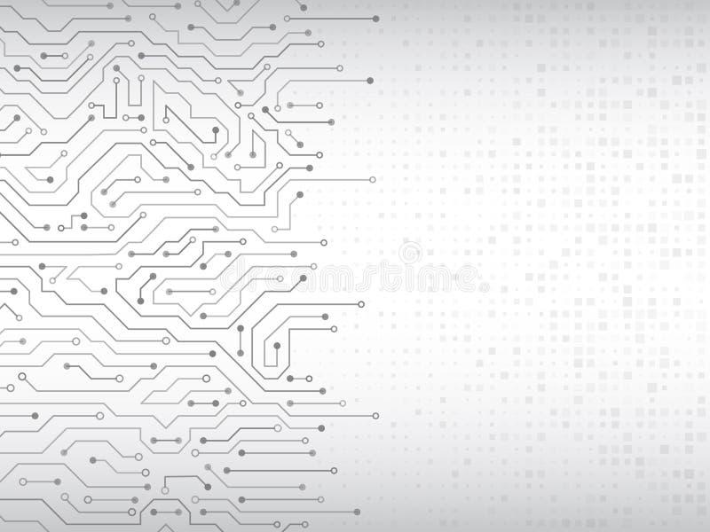 Illustration för vektor för strömkretsbräde royaltyfri illustrationer