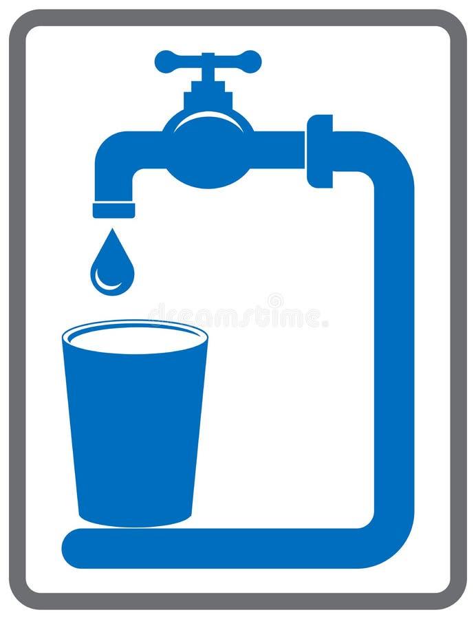Illustration för vektor för symbol för dricksvattenklapp vektor illustrationer