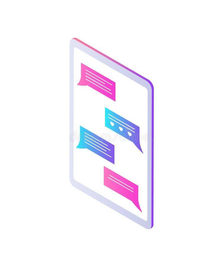 Illustration för vektor för symbol för pratstund för telefoncell mobil stock illustrationer