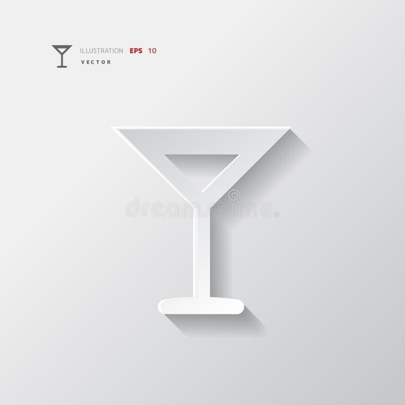 Illustration för vektor för symbol för rengöringsduk för vinexponeringsglas stock illustrationer