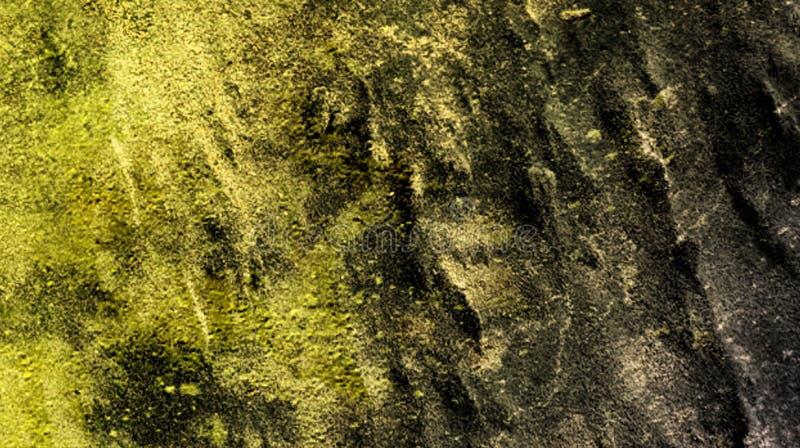 Illustration för vektor för tapet för bakgrund för mörka gula skumma för grön färg effekter för blandning abstrakt texturerad vektor illustrationer
