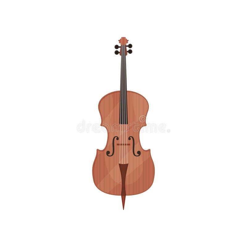 Illustration för vektor för violoncellradmusikinstrument på en vit bakgrund vektor illustrationer