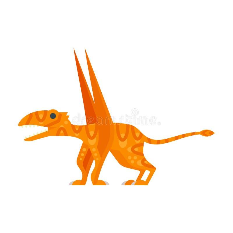 Illustration för vektorlägenhetstil av det förhistoriska djuret - Dimorphodon stock illustrationer