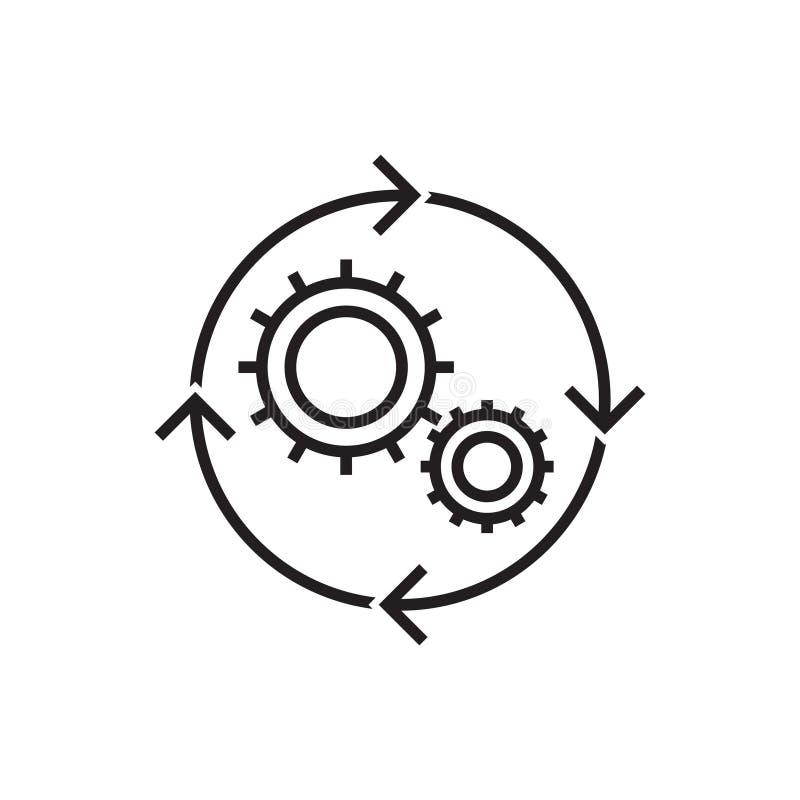 Illustration för Workflowsymbolsvektor stock illustrationer