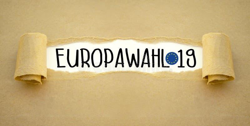 Illustration für europäische Wahl 2019 stockbild