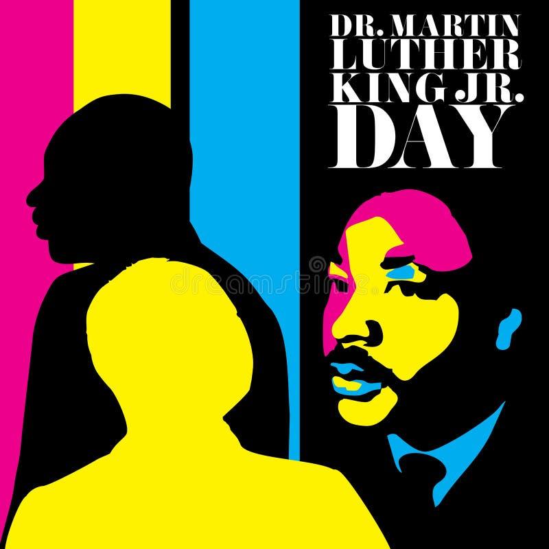 Illustration für Martin Luther King Day stock abbildung