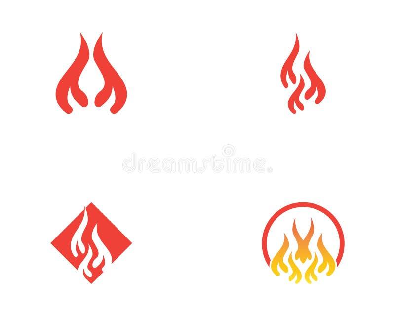 Illustration f?r brandflammaLogo Template vektor stock illustrationer