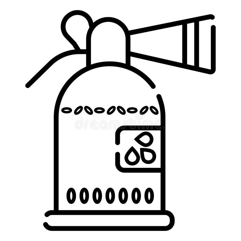 Illustration f?r brandsl?ckaresymbolsvektor stock illustrationer