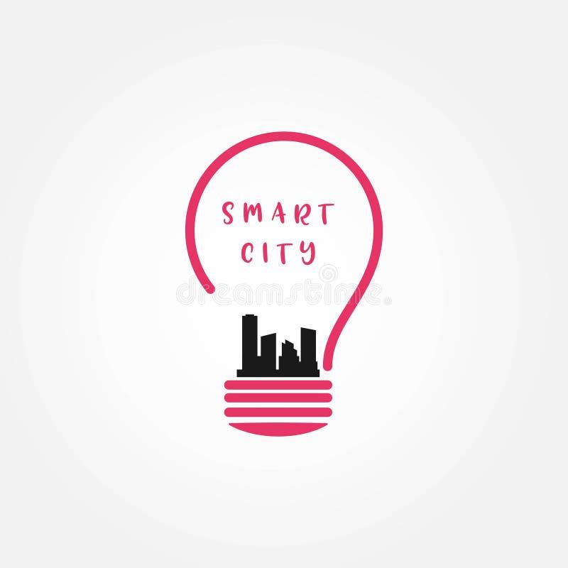 Illustration f?r design f?r Smart City vektormall royaltyfri illustrationer