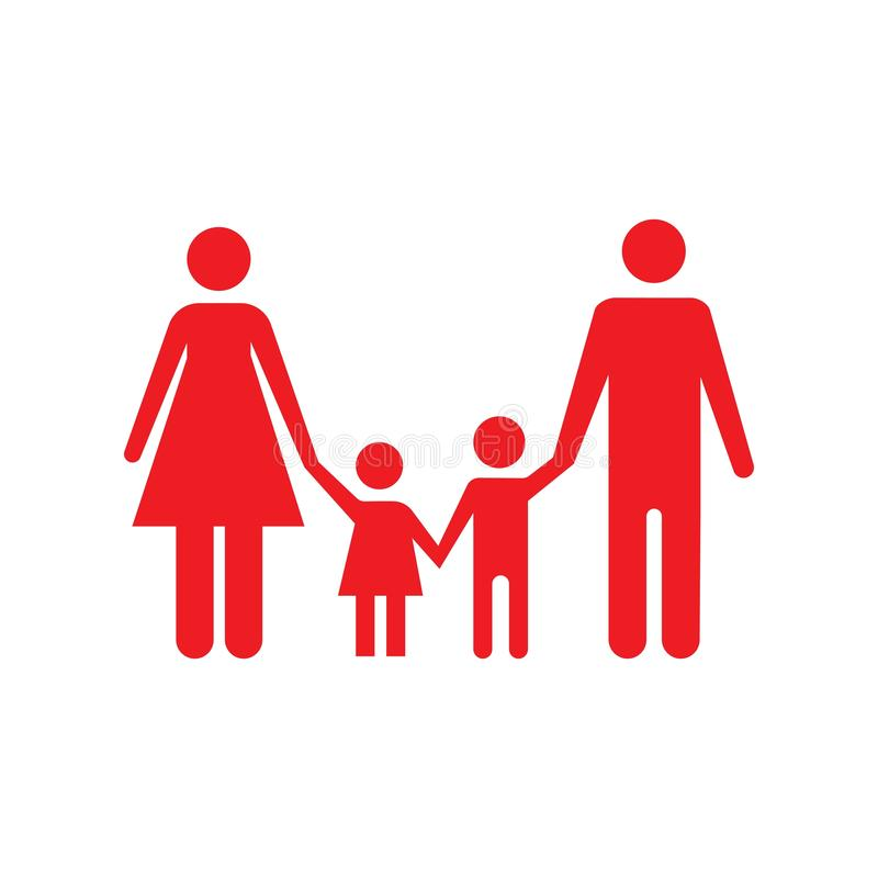 Illustration f?r diagram f?r vektor f?r mall f?r familjsymbolsdesign vektor illustrationer