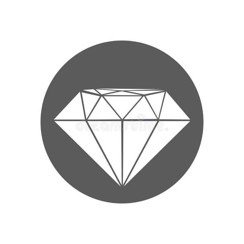 Illustration f?r diamantsymbolsvektor stock illustrationer