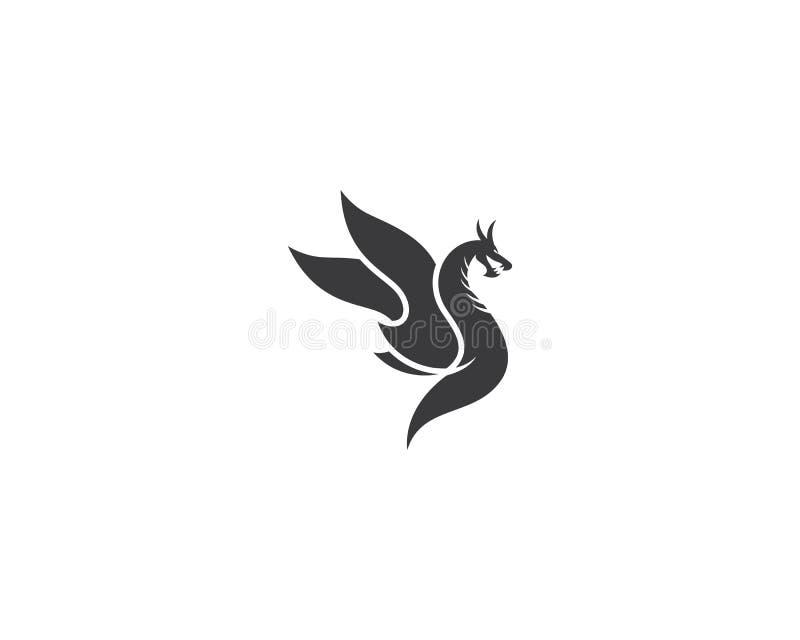 Illustration f?r drakehuvudsymbol royaltyfri illustrationer