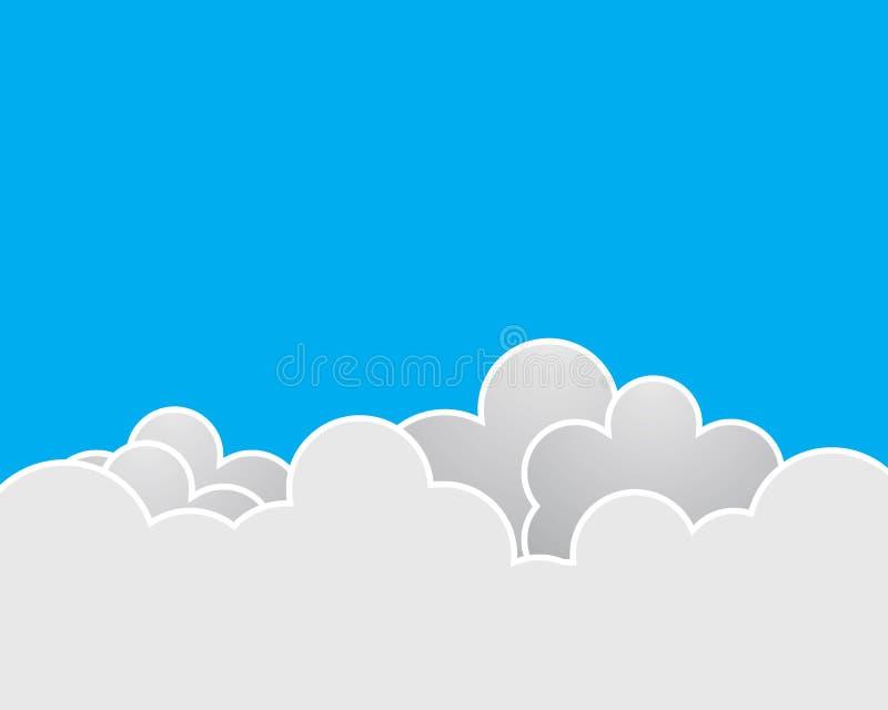 Illustration f?r molnvektorsymbol stock illustrationer