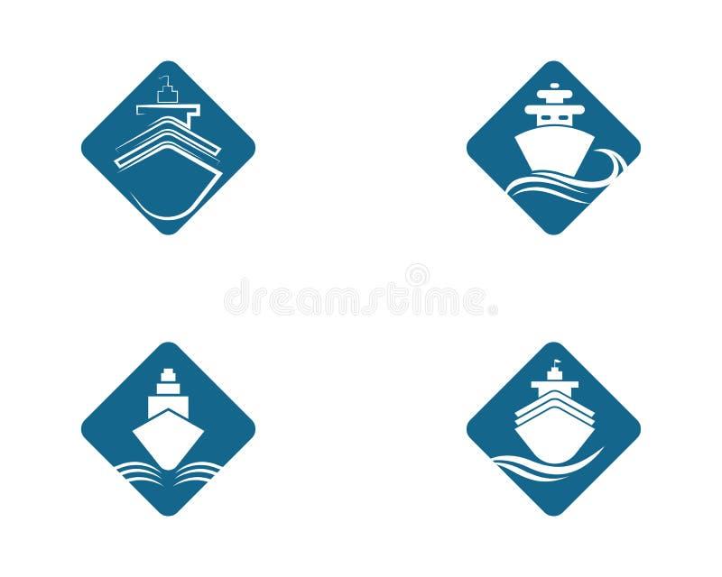 illustration f?r symbol f?r kryssningskepp vektor illustrationer