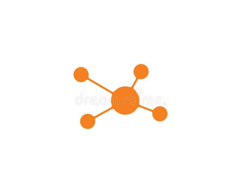 illustration f?r symbol f?r molekyllogovektor stock illustrationer