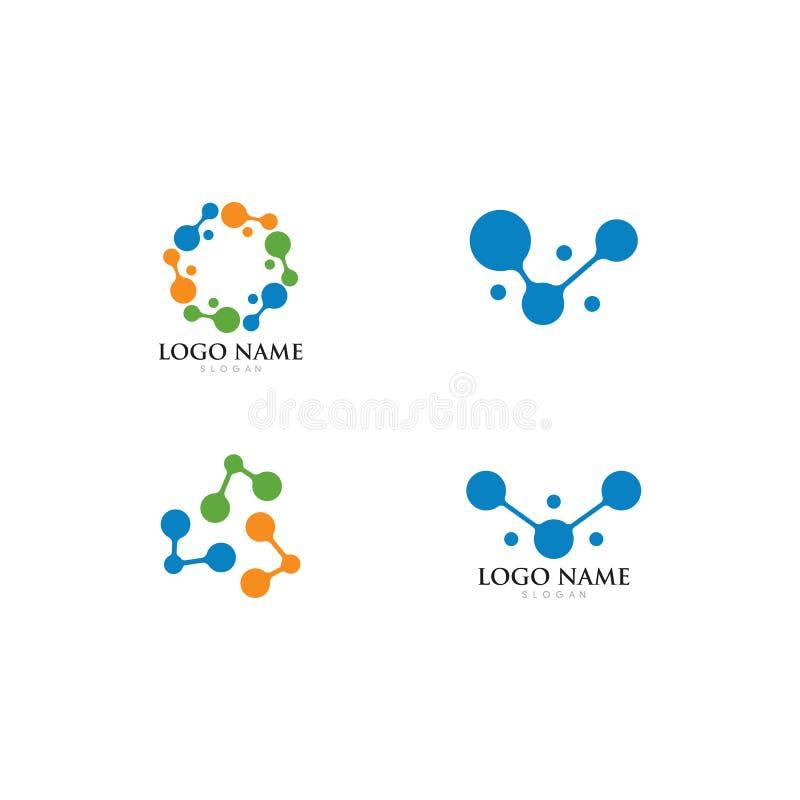 illustration f?r symbol f?r molekyllogovektor vektor illustrationer