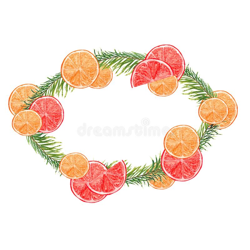 Illustration f?r vattenf?rgv?rblommor med tulpan och r?da sm? blommor V?rsammans?ttning f?r festlig garnering vektor illustrationer