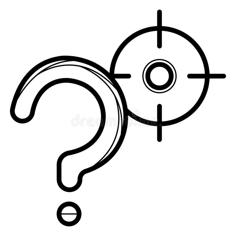 Illustration f?r vektor f?r symbol f?r fr?gefl?ck royaltyfri illustrationer